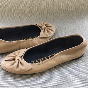 SAM & LIBBY Classic Nude Ballerina Flats w/Bow-9